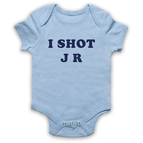 My Icon Art & Clothing Father Krilly I Shot JR Comedy TV Bébé Barboteuse Bodys, Bleu Clair, 3-6 Mois
