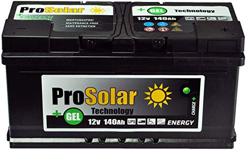 140Ah Gelbatterie Solarbatterie Versorgungsbatterie Verbraucherbatterie 12V