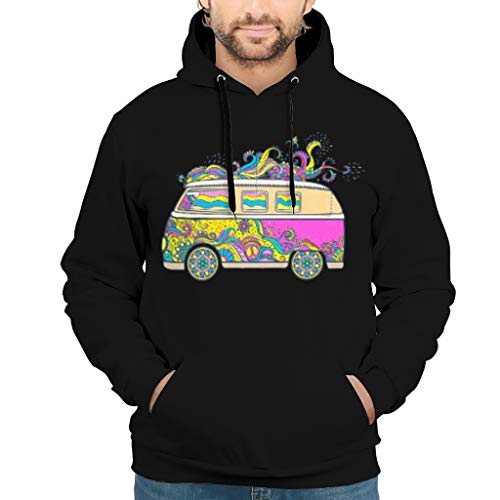 Dofeely Peace and Love Car Mandala Flower Theme Unisex jongens hoodie trui met capuchon persoonlijkheid pullover capuchon jas S-3XL beste gift voor kinderen
