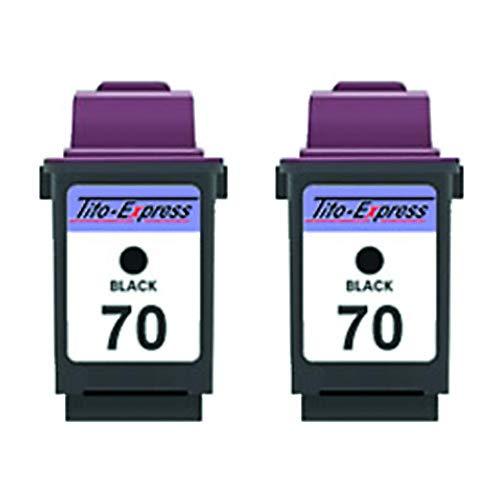 Platinumserie cartridges compatibel voor Lexmark 70 XL & 20 XL | Black & Color (02) 2x Black zwart