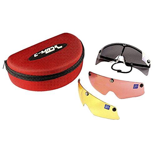 Castellani C-Mask - Montura para gafas de tiro + 10 lentes intercambiables