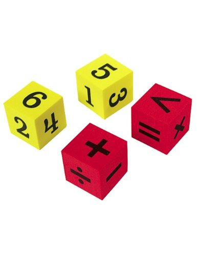 Teacher Created Resources Foam Numbers and Operations Dice (20607)