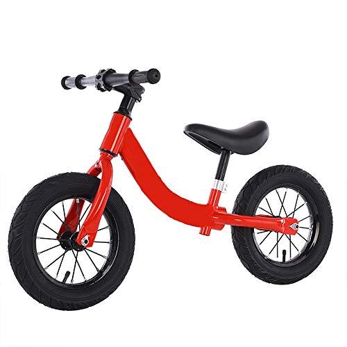 Chang-GUI Die neuen Kinder Laufrads, 3-6 Jahre altes Baby Balance Fahrrad, Zweirad Fahrrad ohne Pedale, kann auf alle Arten von Straßen anpassen, lassen Sie Ihr Baby mehr Spaß spielen. (Color : Red)