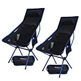 2 Pack Lightweight Folding Camping Backpack Chair, Compact &...
