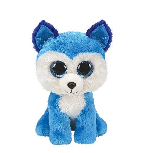 Official Ty Beanie Boo Prince The Husky Soft Plush Toy for Girls, Blue, Small, 6 inches