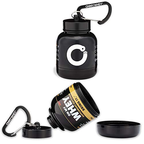 OnMyWhey - Portable Protein and Supplement Powder Funnel Key-Chain - Combo: 1 Modern + 1 Classic