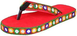 HD Women Red Jodhpuri Stylish Slipper