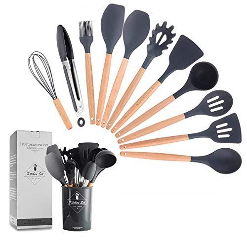 ZCOINS - Juego de utensilios de cocina de silicona...