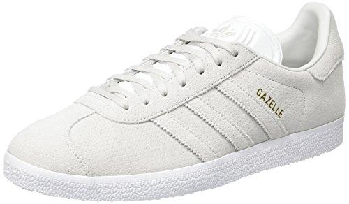Adidas Herren Gazelle Sneaker , Grau (Grey One/grey One/gold Metallic) , 45 1/3 EU