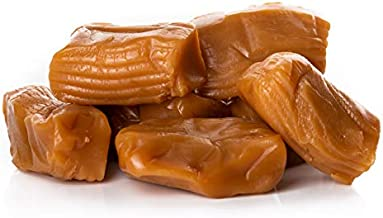 Oregon Farm Fresh Snacks Salted Caramel Gourmet Candy - Oregon Made Caramel Candy with Sea Salt and Vanilla - Gluten Free Delicious Chewy Sea Salt Caramels - Soft Caramels Individually Wrapped (32 oz)