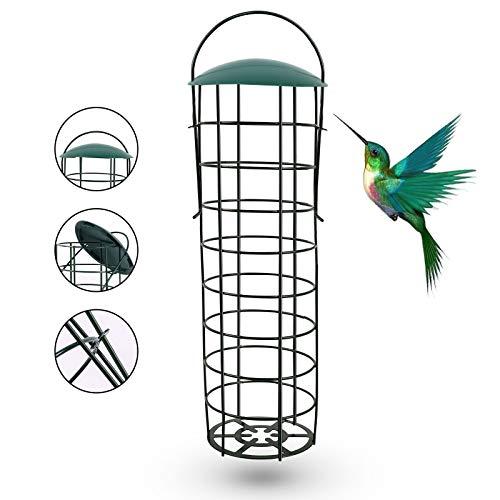 Ulikey Aufhängen Vogelfutterstation, Wildvögel Futterstationen, Vogelfutter Futterspender, Futterstation Ständer, Meisenknödelhalter zum Aufhängen für Garten