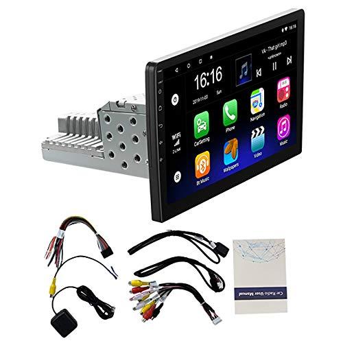 VORA 1DIN Radio EstéReo de Coche de 10 Pulgadas Android 9,1 Pantalla de Contacto 1080P NavegacióN GPS de Cuatro NúCleos Reproductor de Radio de Coche