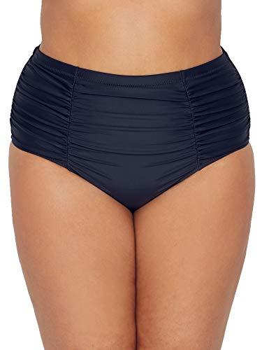 Raisins Curve Plus Size Marrakesh Costa Bikini Bottom, 18W, Black