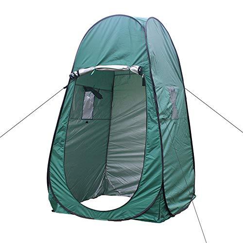 Veranderende tent badtent regenbescherming zonwering met bescherming tegen insecten, opbergtas licht en draagbaar, geschikt voor outdoor, camping, strand, vissen, vogels kijken, etc, groen