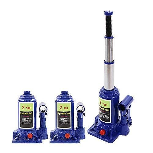 ボトルジャッキ 油圧式 定格荷重約2t 約2.0t 約2000kg 2台セット 2個 油圧ジャッキ 二段階 三段階 多段階 だるまジャッキ ダルマジャッキ ジャッキ 手動 安全弁付き ジャッキアップ ハイアップ タイヤ交換 工具 整備 修理 メンテナンス