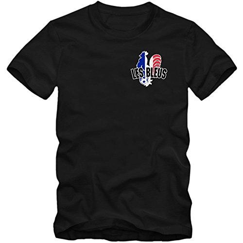 Francia Campeonato De Europa 2016#5 Camiseta | T-Shirt | France | Fútbol | Hombre | Jersey | Equipo Nacional, Colour:Black (Deep Black);Size:Small