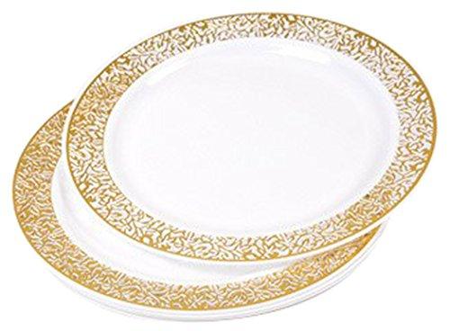 Diner Presque Parfait Koronkowy zestaw 6 talerzy 19 cm złoty
