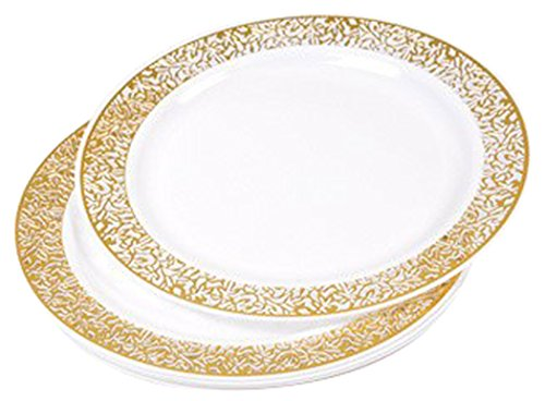 Diner Presque Parfait Lace Set of 6 Plates 19 cm gold