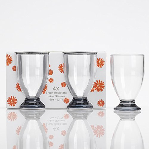 Acryl wijnglas, 170 ml, 4 stuks, grijs, campingglazen, accessoires, drinkglas, kunststof, kel, drinkkelk, gotblet, rode wijn, acrylglas, partyglas, waterglas, onbreekbaar, drinkbeker, whiskyglas