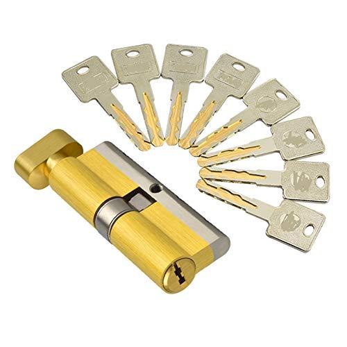 AYGANG Door Idling Lock Core Single Open 70/75/80/105/110mm Hit Door Lock Cylinder lock cylinder 655 (Color : 100mm 50 add 50mm)