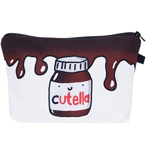 PREMYO Kosmetiktasche Klein für Handtasche - Schminktasche Damen Make Up Tasche - Federmappe Mädchen Etui Cutella