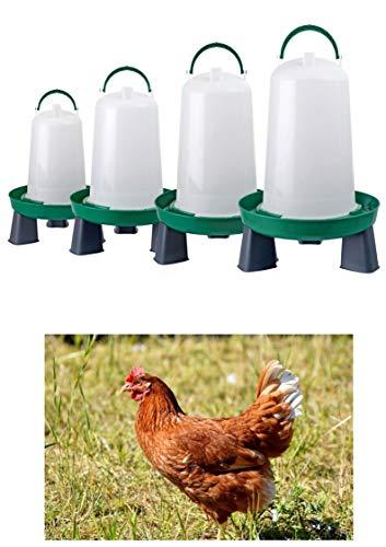 Zoo-Papp Hühnertränke(!!!!) in verschiedenen Größen grün und rot I Geflügeltränke für Hühner, (Rot, 3 Liter)