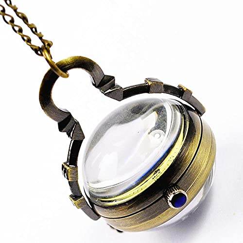 BAIDEFENG Reloj Médico de Colores,Reloj de Bolsillo de Bronce con Bola de...