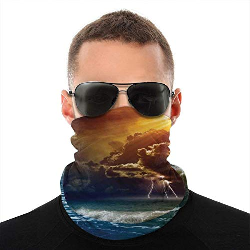 DonnerOrm Rays Over The Ocean Wellen Wild Forces Variety Kopftuch, Gesicht Bandanas, Soft, Haarband Paare