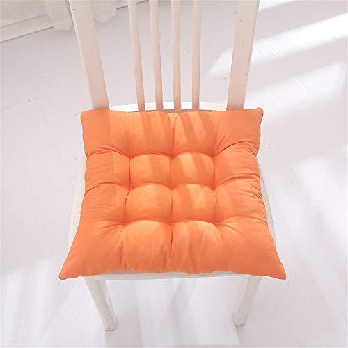 GLITZFAS Set da 4 Cuscino Sedia,Cuscini per Giardino, per Dentro e/o Fuori,40x40 cm,Disponibile in Tanti Colori Diversi,Cuscini per sedie da Giardino,Copri Sedia Cucina (Arancione)