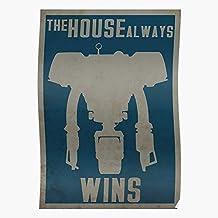 New Vegas Fallout Strip Mr House Securitron The El mejor y más nuevo póster para la sala de decoración del hogar de arte de pared