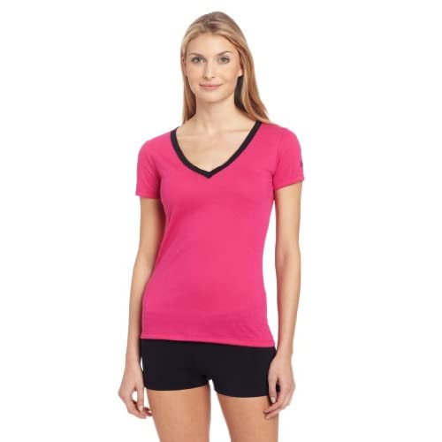 Zumba Fitness, Maglietta Donna So Hot Solar V Neck, Rosa (Berry), M