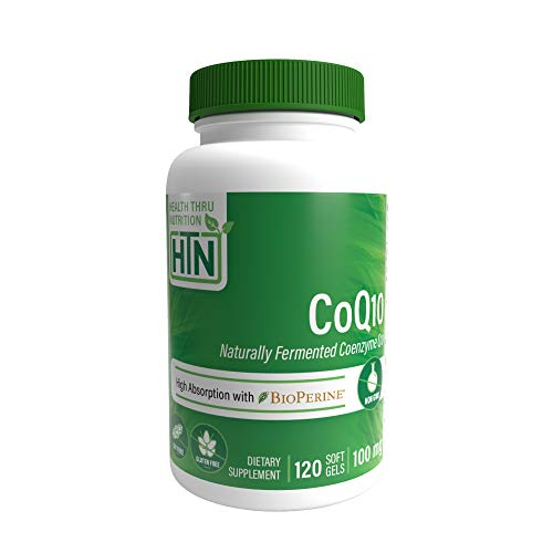 CoQ10 100mg 120 Softgels Non-GMO, 100% Natural Coenzyme Q-10