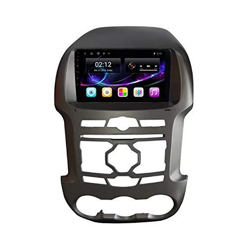 2 DIN 9' Touchscreen Autoradio Bluetooth Stereo Autoradio Vivavoce Lettore MP5 con Telecamera Posteriore, Bluetooth/FM/USB/AUX/Mirror Link, per Ford Ranger F250 20011-2015,Quad Core,4G WiFi 1+32