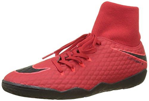 Nike Hypervenomx Phelon 3 DF IC, Scarpe da Calcio Uomo, Rosso (University Rosso/Nero/Bright Crimson 616), 42.5 EU