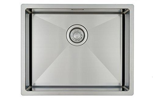 Fregadero de Cocina Mizzo Linea | Acero Inoxidable 304 | Montaje Bajo o Sobre Encimera o al Ras | Radio 10mm | 1 Seno | Espesor Acero 1.2mm (50x40)