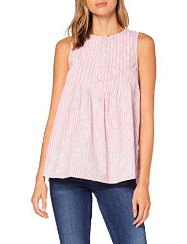 Tommy Hilfiger Reisa Top NS Camisa, Rosa (Palm Floral PRT - Rosa STP Y/D), 40 para Mujer