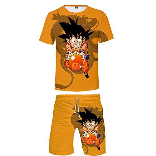 Conjunto de Camiseta y Pantalones de Dragon Ball para Niños Niñas Pantalones...