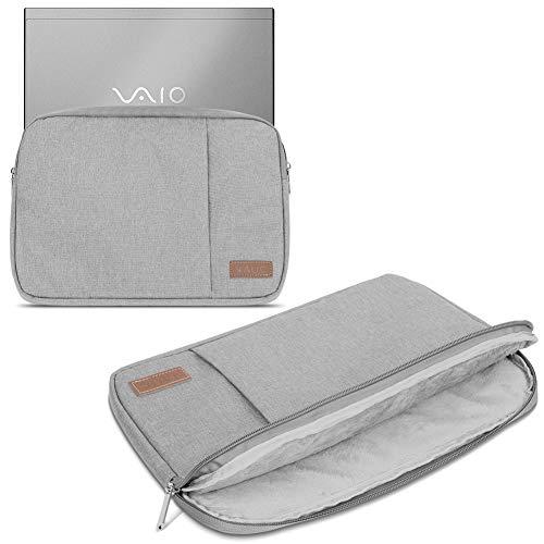 Notebook Hülle für Vaio A12 Tasche Grau Schutzhülle Tablet Cover Hülle, Farbe:Grau