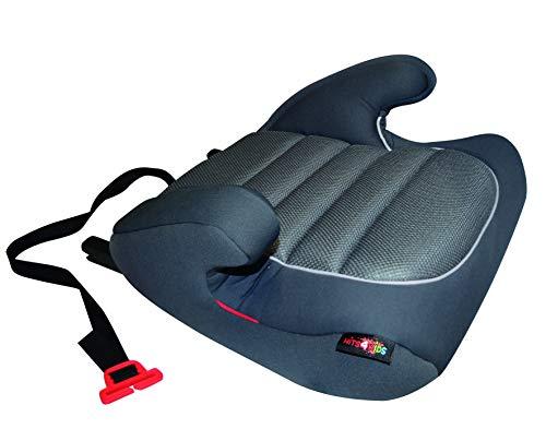 HiTS4KiDS AZKFZ066 Kindersitzerhöhung mit ISOFIX und GURTFIX, Auto-Sitzerhöhung, Kindersitz, 15-36 kg, circa 3-12 Jahre, Gruppe 2-3, ECE R44/04 geprüft, grau
