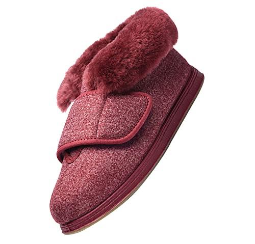 Estar por casa Zapatos Diabéticos Respirable ,Zapatos DiabéTicos para Hombre Ajustable,Zapatos para pie diabético, Zapatos valgus para Ancianos,Navy blue_45