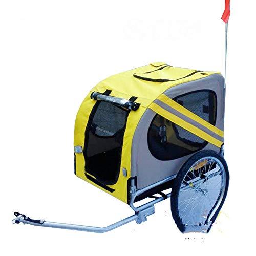 MasodHDFX 20 inch opblaasbare wiel Pet Trailer, aluminium frame fietsaanhanger hondentransporter, grote fietskar voor honden, kan 8lbs houden