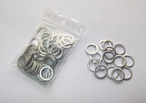 100 Stück Aluminiumringe/Dichtringe/Dichtung Alu 14x18x1,5 mm DIN 7603