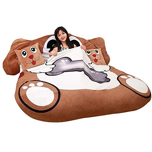 Soft stuffed toy Schlafsack Weiche Matratze, 1,2 m×2 m / 1,5 m×2m Multifunktion Faule Couch Tatami, Einzel/Doppel Verdicken Falten Groß Plüsch Bett, Geeignet für Schlafzimmer Wohnzimmer Balkon