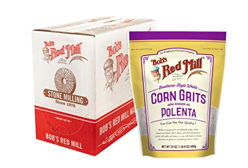 White Corn Grits / Polenta (24 Ounce (Pack of 4))