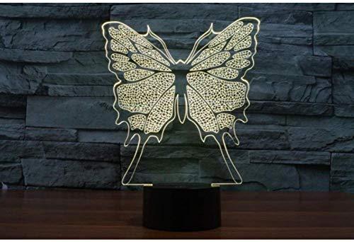 YJLGRYF LFKB1234 La Tabla De Mariposa Colores Que Cambian La Lámpara Lámpara De Escritorio 3D De La Novedad LED Luces De La Noche La Luz Llevada