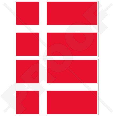 Danemark drapeau danois Danmark 10,2 cm (100 mm) en vinyle Bumper Stickers, Stickers x2
