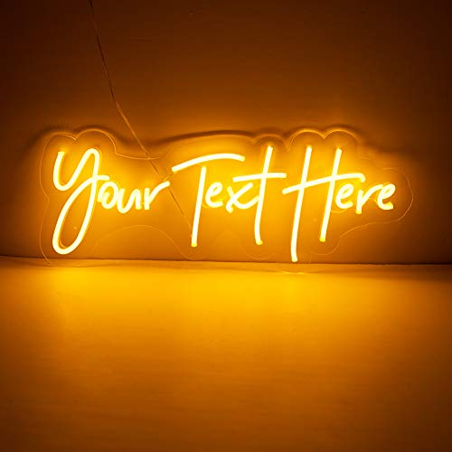 JadeToad Custom Led Neon Light Signs Individual Personalized Design for Wall Decor Bedroom Indoor Use (Customization: Sizes, Text Lines, Colors, Font Styles, Backboards, etc.) (1 Line Text, 20