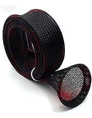 Nrpfell Svarta och röda fiskespö ärmar 170 cm 30 mm bredd fiskespö skydd stolpe strumpor