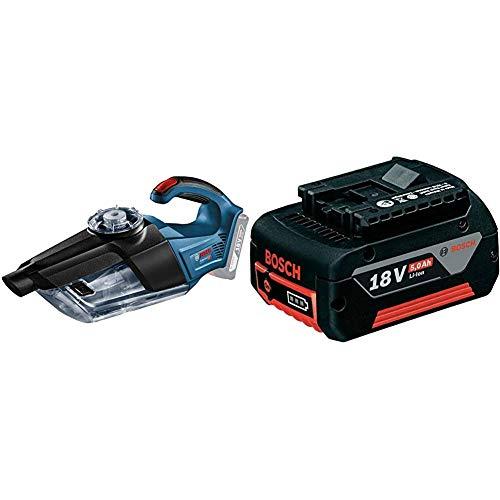 Bosch Professional - Aspirador a batería GAS 18V-1 + Bosch Professional 1600A002U5 Batería 18 V, 18 W, Negro