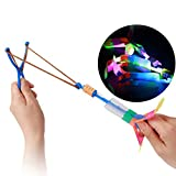 Juguete De Regalo Aclaran Cielo Volando Flecha Luz Arriba Que Destella De La Libélula Kids Party Glow 3 Pc Divertido Luminoso Spinner (Color Azar)